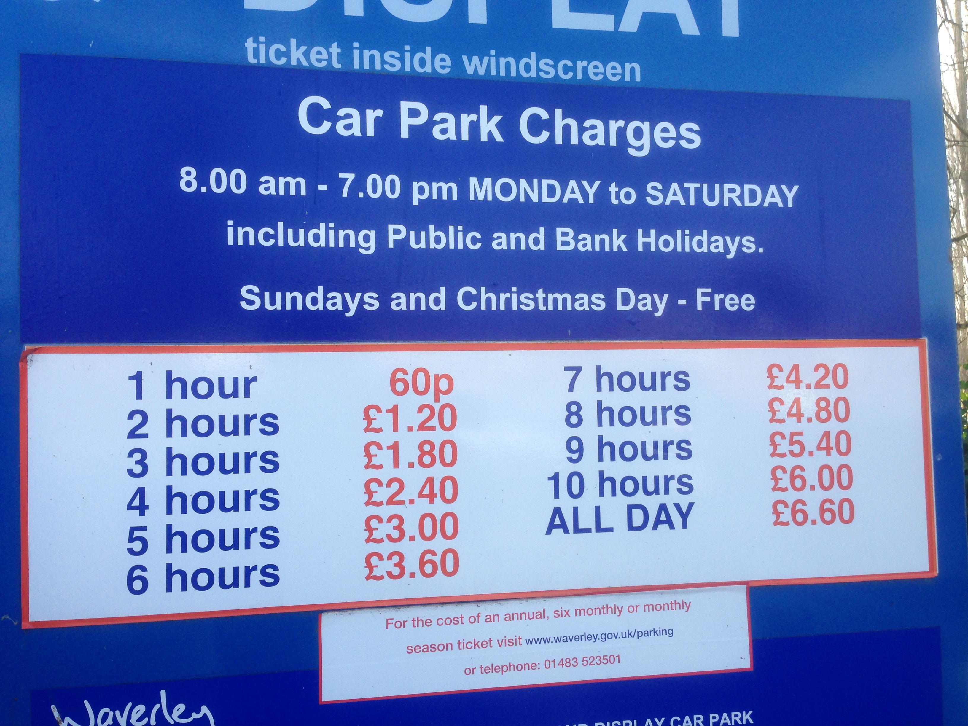 Farnham Road Car Park Guildford Opening Times