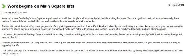 Car park lift overhaul