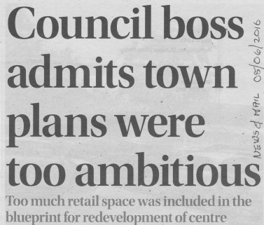 News and Mail article on overambitious plan